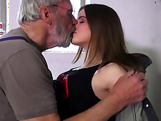 Such an innocent petite young pussy for an old horny grandpa